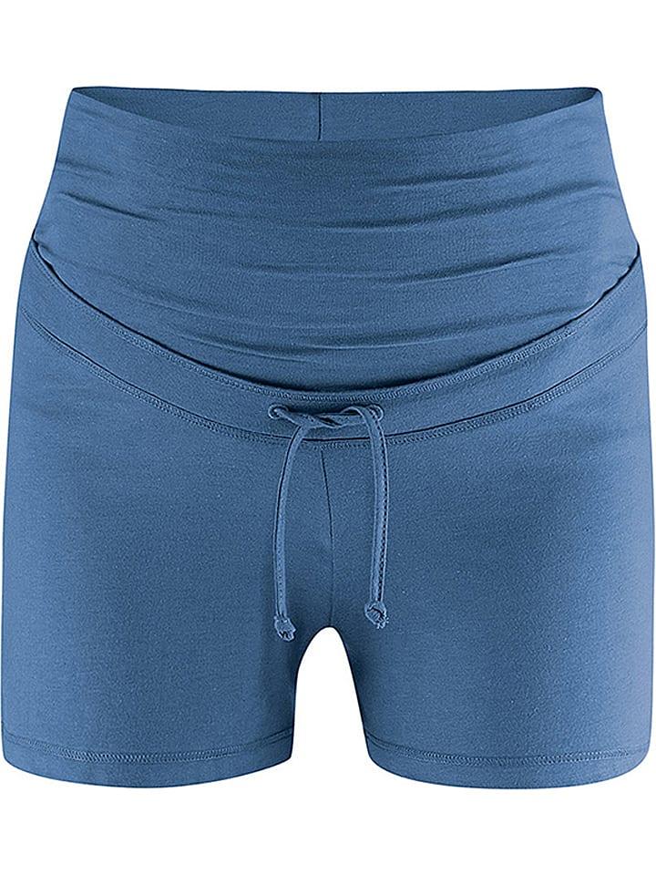 Bellybutton Umstandspyjama-Shorts in Blau