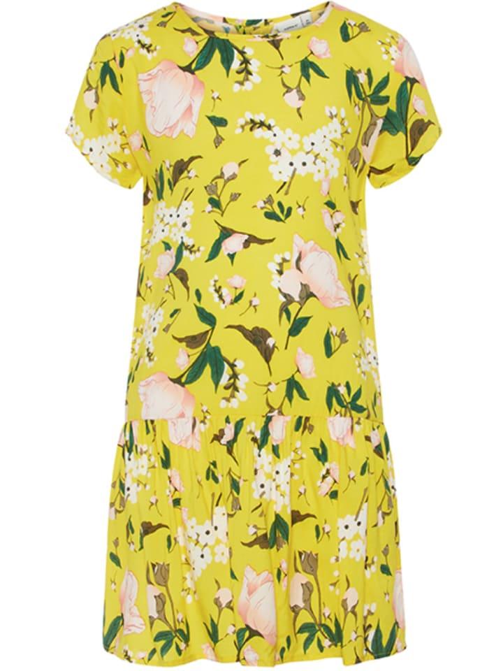 Kleid gelb grun