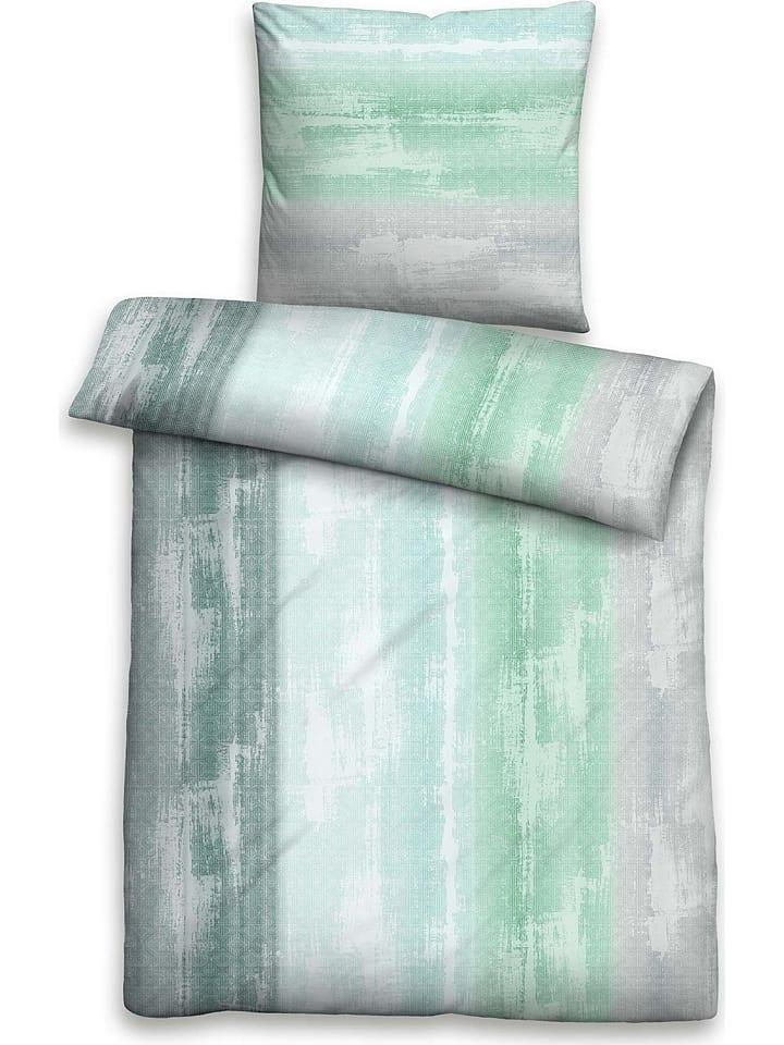 Biberna Biber Bettwasche Set In Grau Grun Limango Outlet