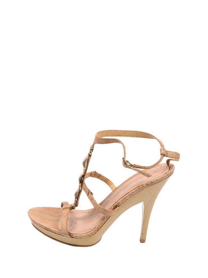 fa6e0512f22b9 Sandały w kolorze beżowym - Nine West - Wyprzedaż w Outlet Limango