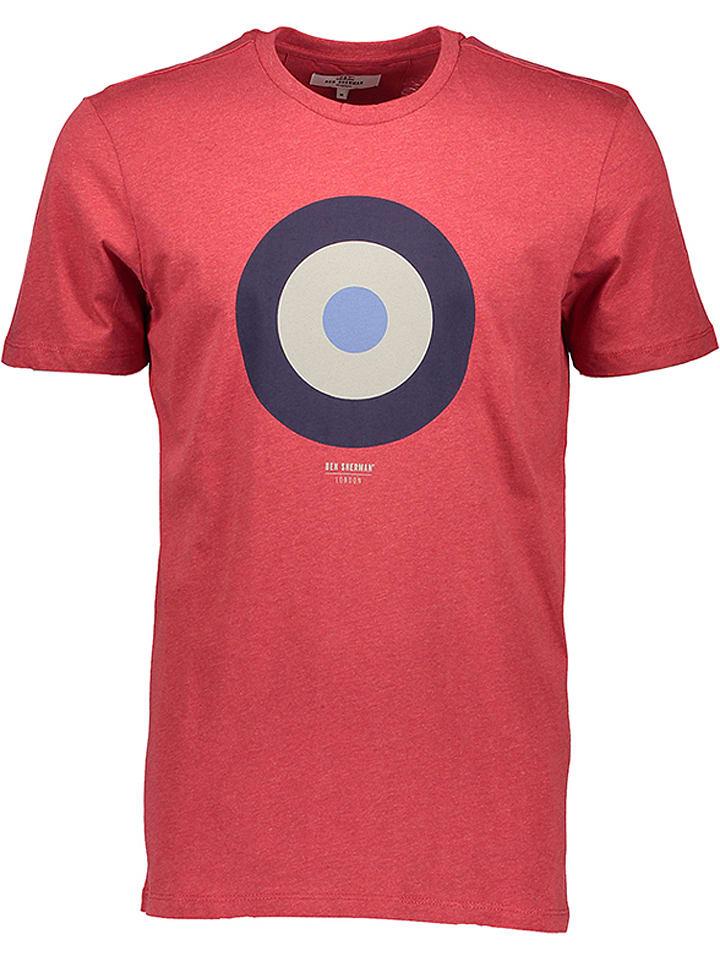 """Ben Sherman T-shirt """"Target"""" - rouge"""