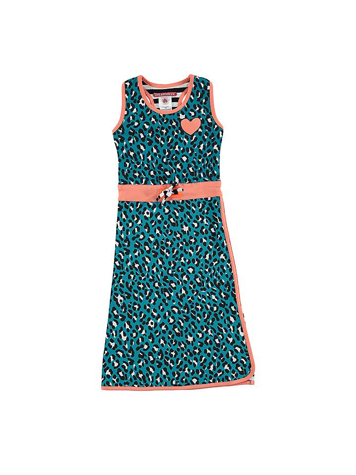 Kleid blau schwarz bild