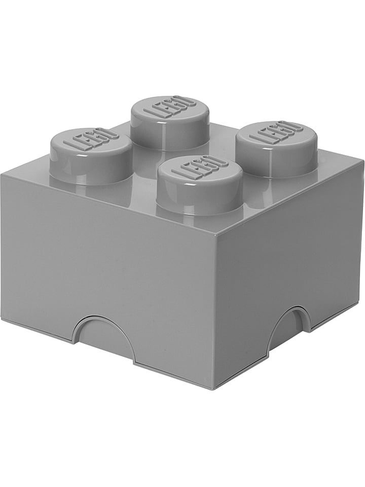 """LEGO Pojemnik """"Brick 4"""" w kolorze szarym - 25 x 18 x 25 cm"""