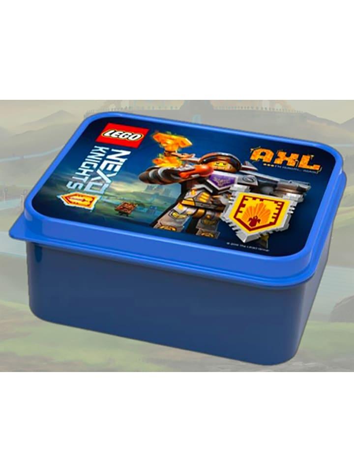 """LEGO Lunchbox """"Nexo Knights"""" blauw - (B)16 x (H)6,6 x (D)14,1 cm"""