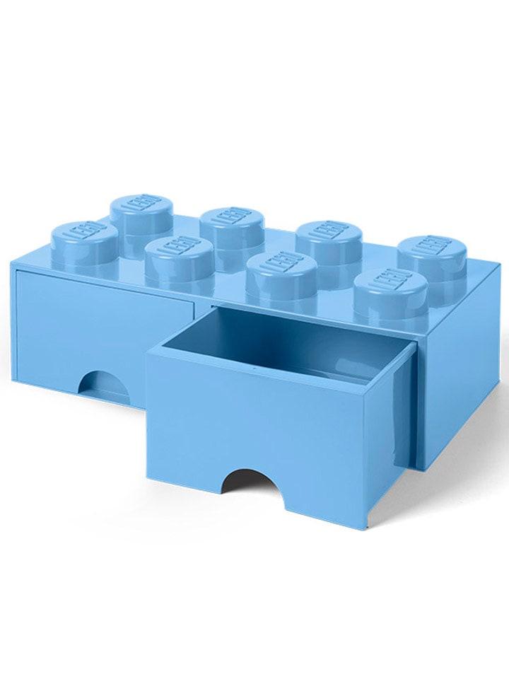 """LEGO Pojemnik """"Brick 8"""" w kolorze niebieskim z szufladami - 50 x 18 x 25 cm"""