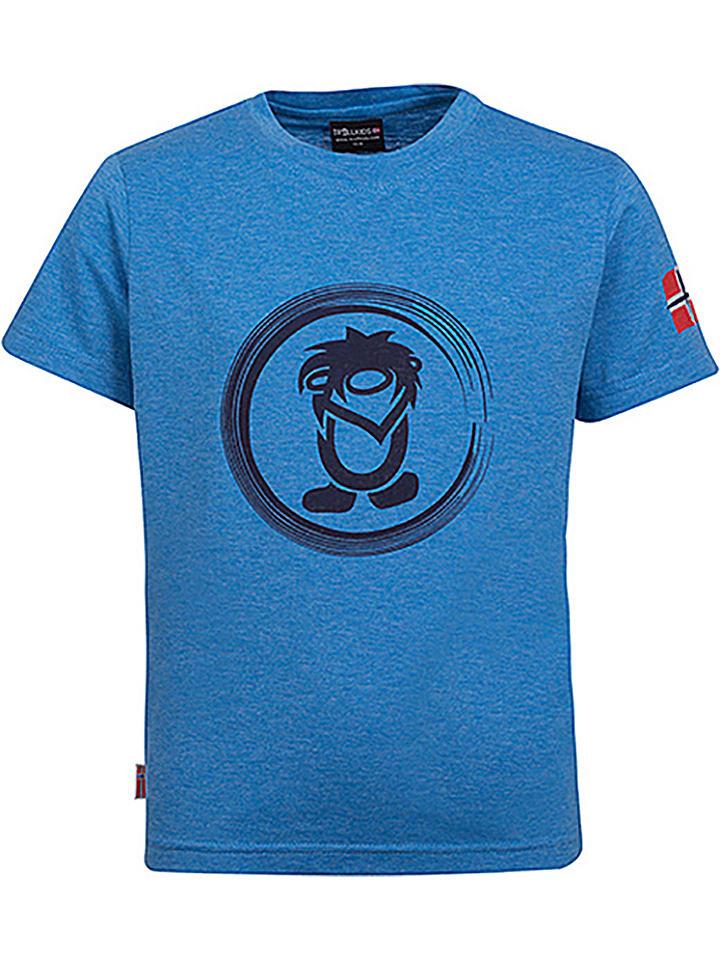 "Trollkids Funktionsshirt ""Trollfjord"" in Blau"