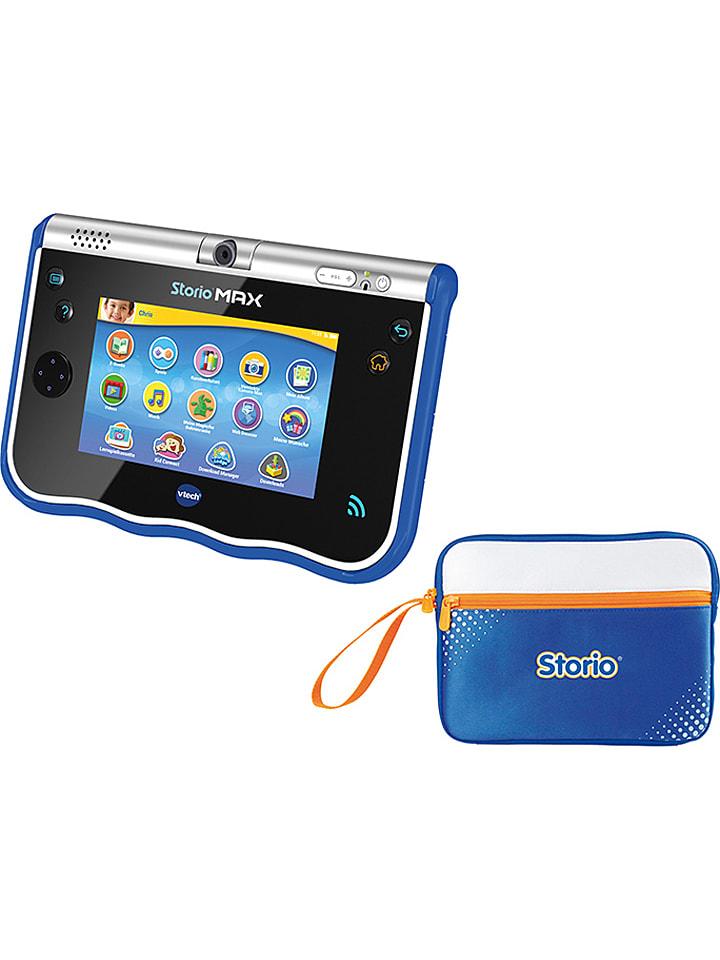 """Vtech 2tlg. Set: Lerntablet """"Storio Max 5"""" mit Tasche in Blau  - ab 4 Jahren"""