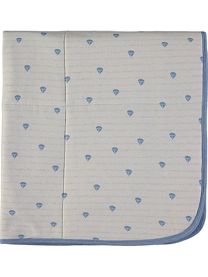 Kanz Kocyk w kolorze biało-niebieskim do raczkowania