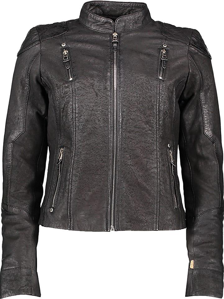 M.O.D Skórzana kurtka w kolorze czarnym