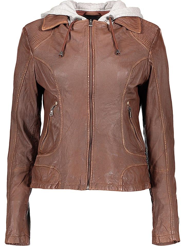 M.O.D Skórzana kurtka w kolorze brązowym