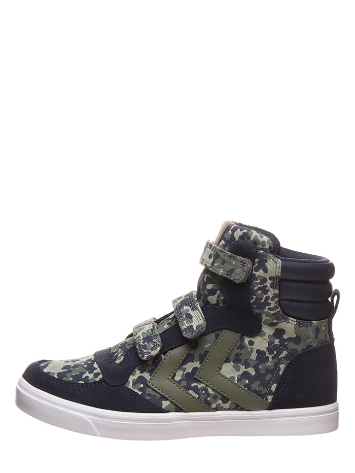 "Hummel Sneakers ""Stadil Camo"" in Dunkelblau/ Khaki"