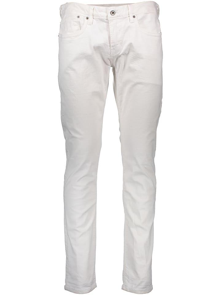 """Pepe Jeans Dżinsy """"Hatch"""" - Slim fit - w kolorze białym"""