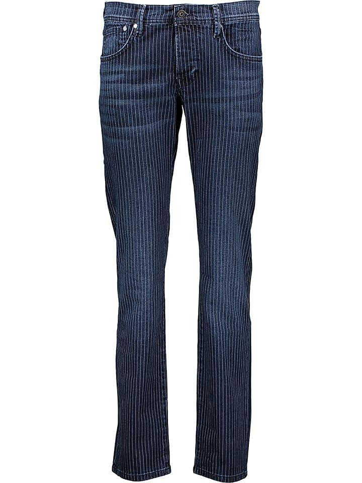 """Pepe Jeans Dżinsy """"Cane Pinstripe"""" - Straight fit - w kolorze granatowo-białym"""