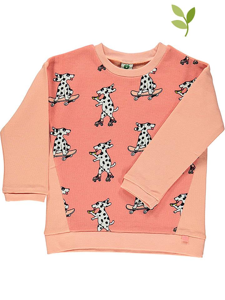 Småfolk Bluzka w kolorze koralowo-różowym