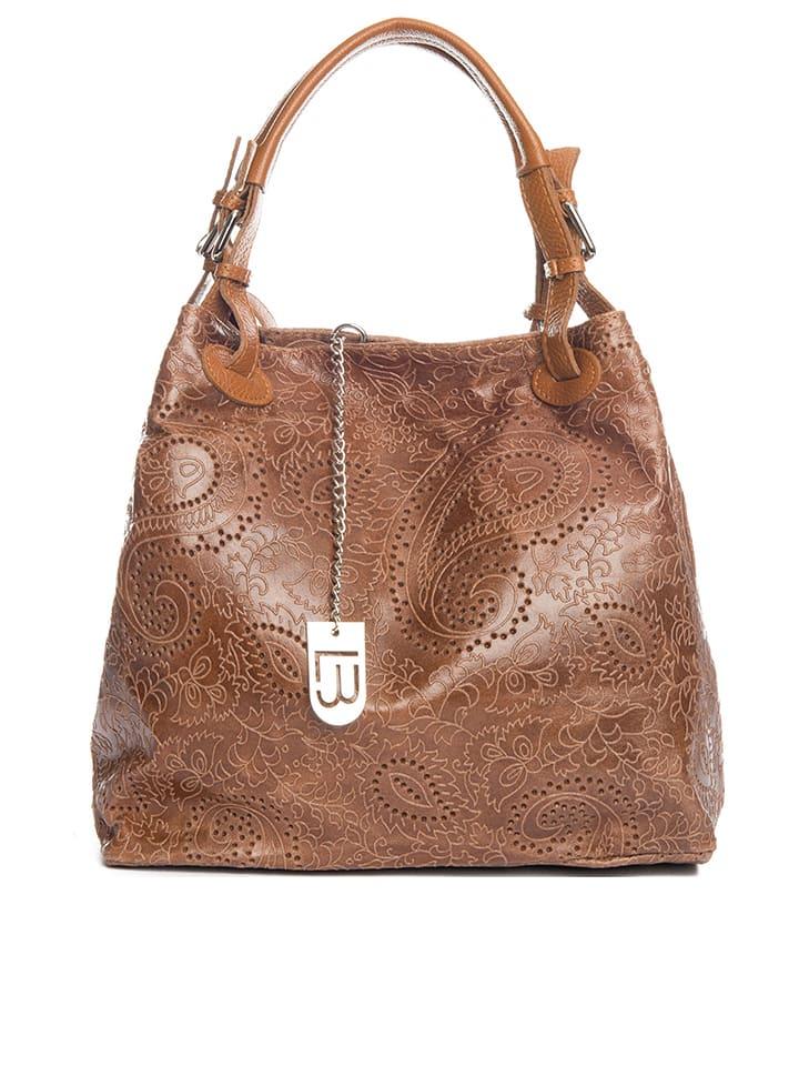 Lucca Baldi - Sac à main en cuir - marron clair - 37 x 45 x 15 cm ... 74416b7f4dd8