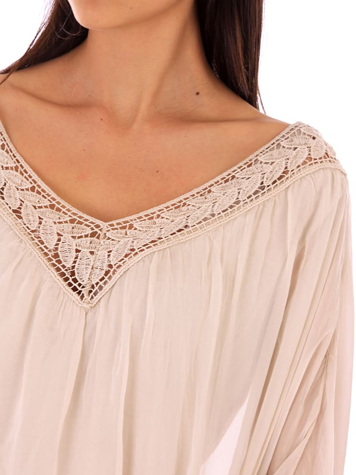 dd204c13ef45 Silk Factory - Seiden-Shirt in Beige   limango Outlet
