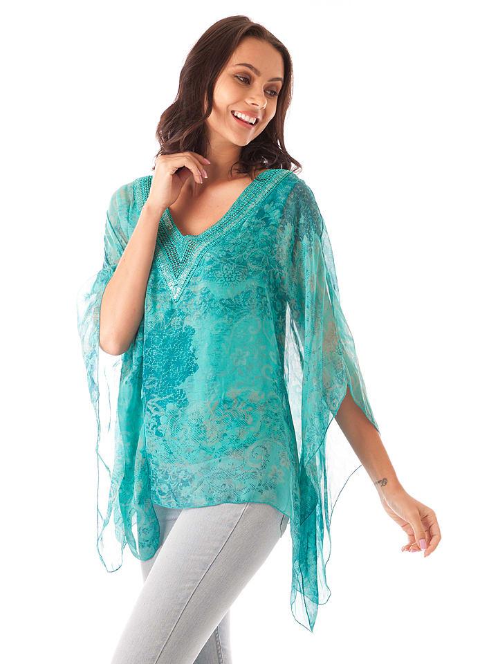 aa5272a842e1 Silk Factory - Seiden-Shirt in Türkis   limango Outlet