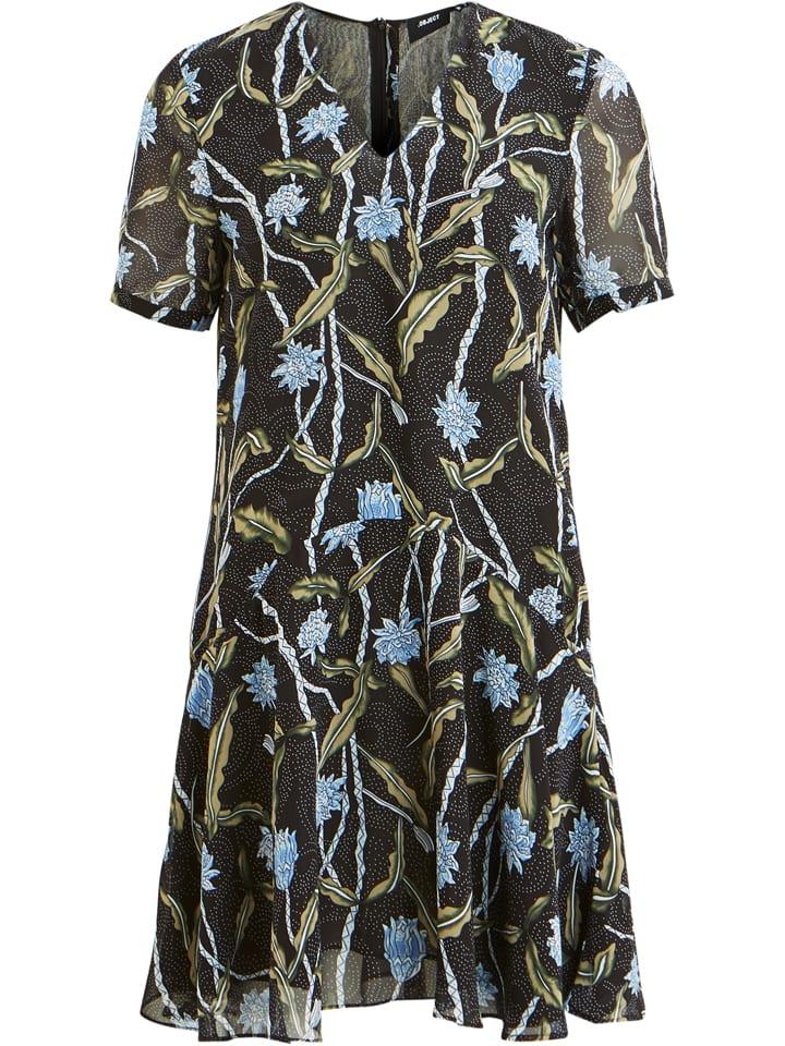 Object Sukienka w kolorze czarnym ze wzorem