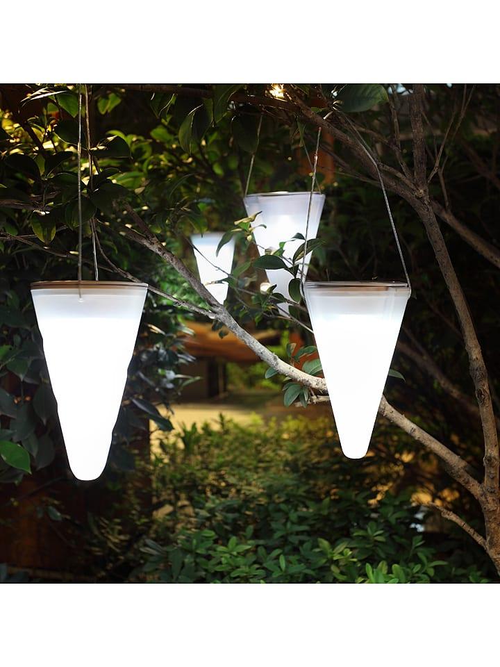 """Lumisky Solarna lampa LED """"Creamy"""" w kolorze białym - wys. 17 x Ø 10 cm"""
