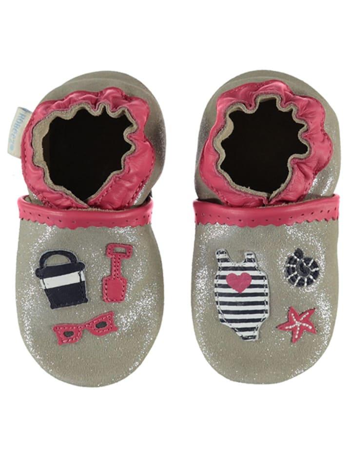 """Robeez Skórzane buty niemowlęce """"Beach Summer"""" w kolorze miedzianym"""
