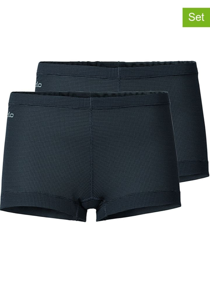 "Odlo 2er-Set: Funktionspanties ""Cubic"" in Schwarz"
