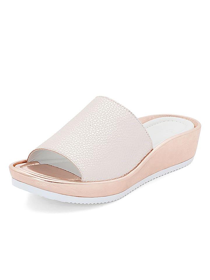 """Ara Shoes Leder-Pantoletten """"Tivoli"""" in Weiß"""