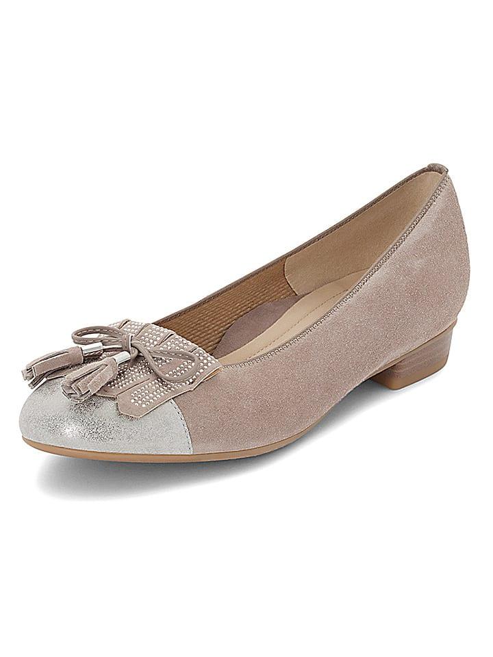 "Ara Shoes Leder-Pumps ""Bari"" in Taupe"