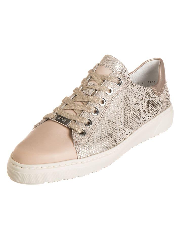"""Ara Shoes Leder-Sneakers """"Toronto"""" in Beige"""