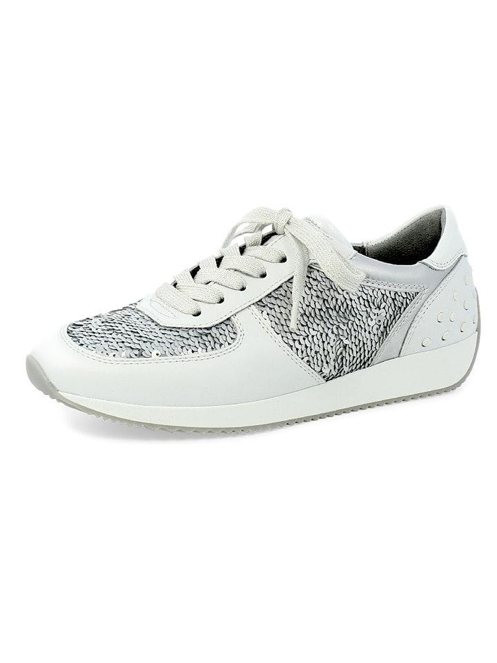 "Ara Shoes Leder-Sneakers ""Lissabon"" in Weiß"