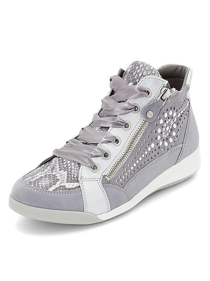 Ara Shoes Leder-Sneakers in Grau