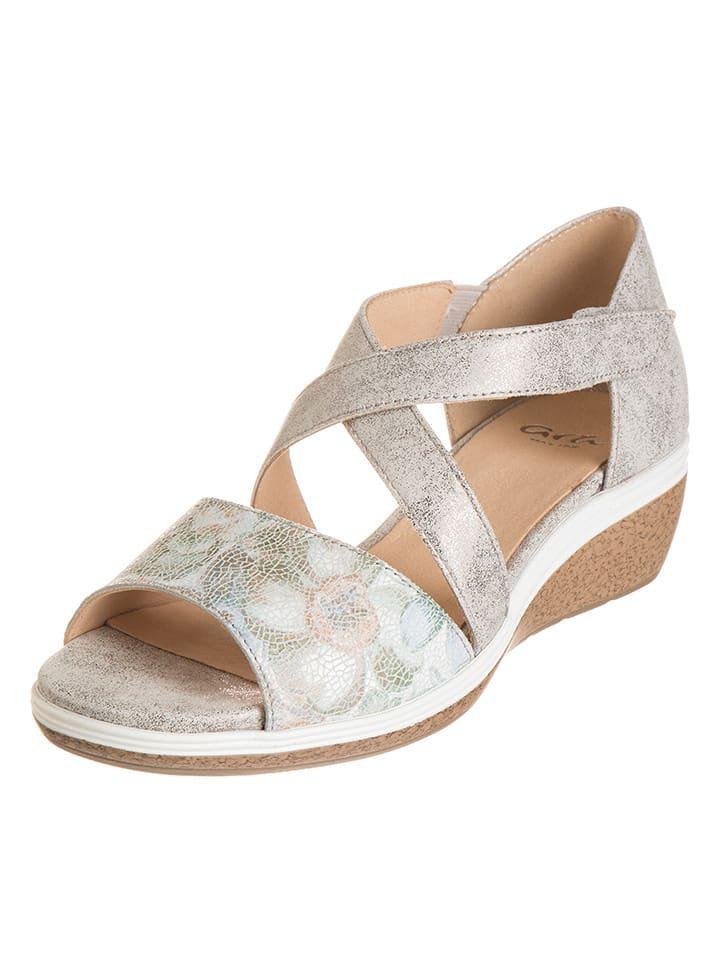 """Ara Shoes Leder-Sandaletten """"Sirmione"""" in Beige"""