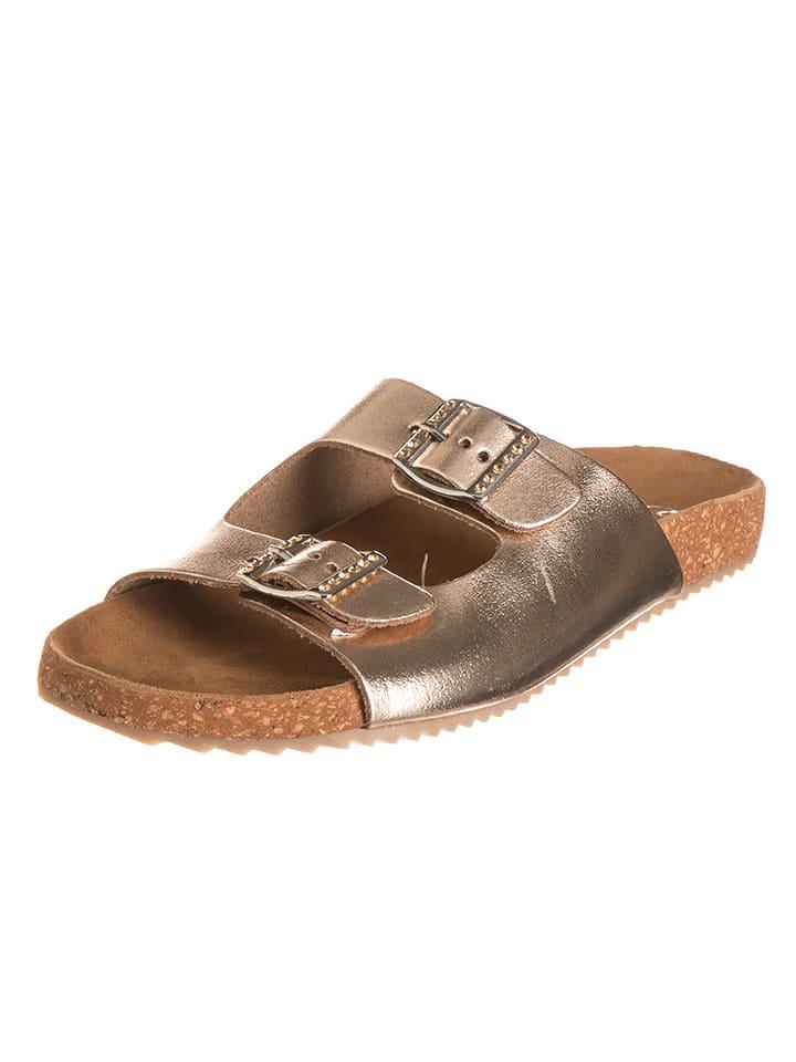 """Ara Shoes Leder-Pantoletten """"Salina"""" in Gold"""