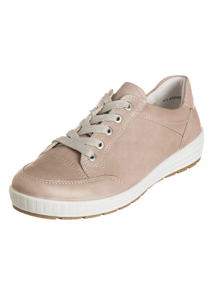 """Ara Shoes Leder-Sneakers """"Nagano"""" in Beige"""