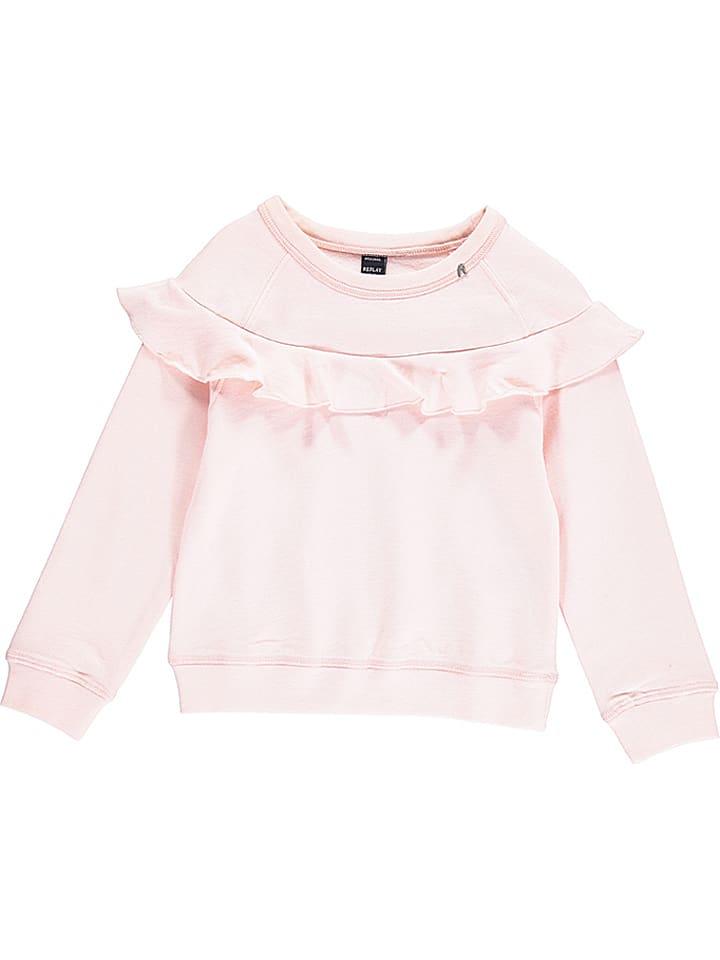 Replay & Sons Bluza w kolorze jasnoróżowym