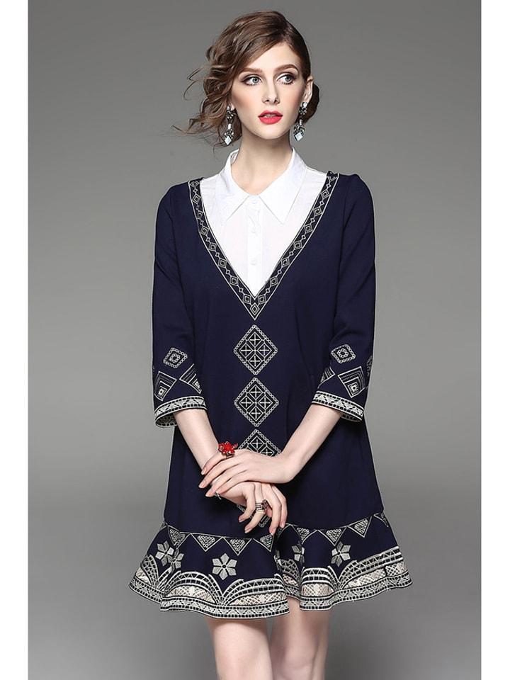 Zeraco Sukienka w kolorze niebieskim