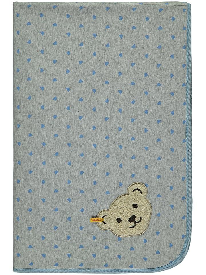 Steiff Koc w kolorze szarym - 95 x 65 cm
