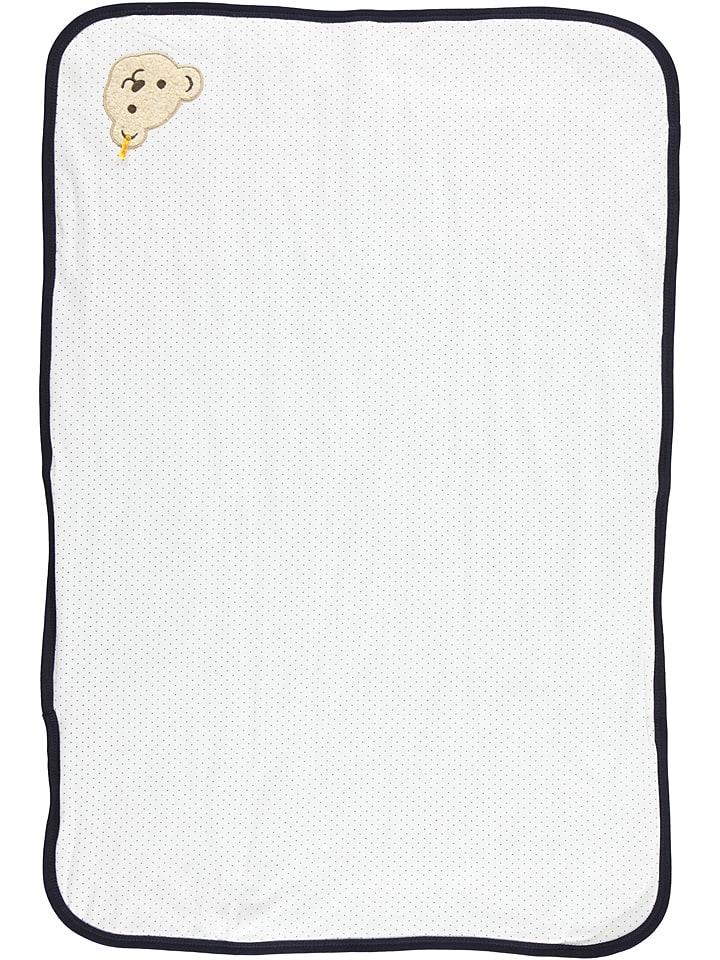 Steiff Koc w kolorze białym - 95 x 65 cm
