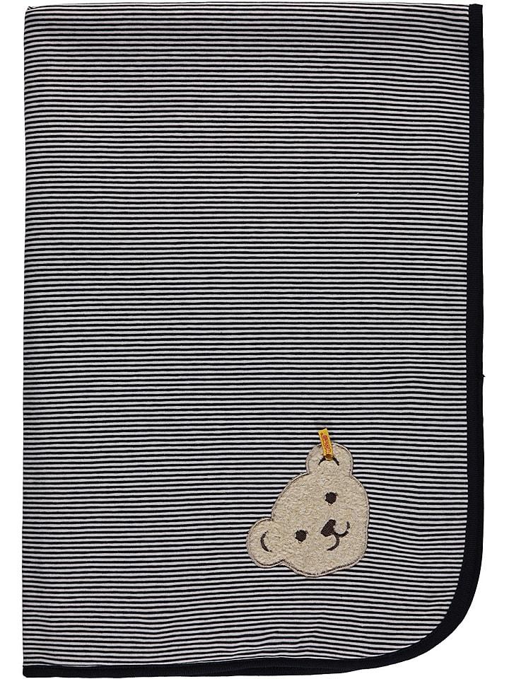 Steiff Koc w kolorze granatowym - 95 x 65 cm