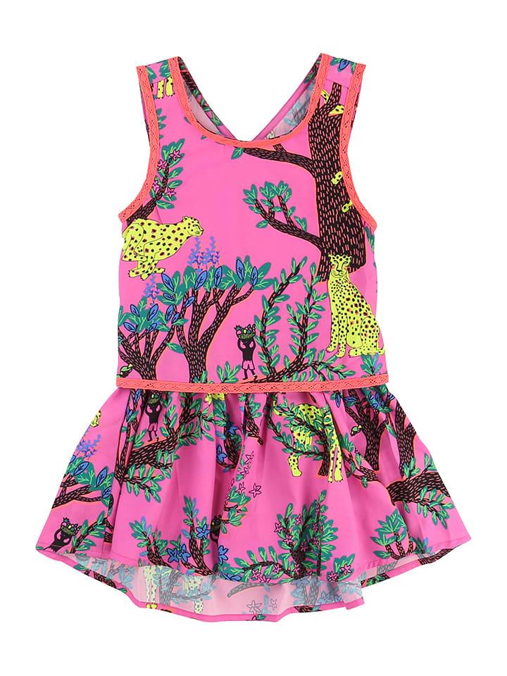 Kleid pink bunt