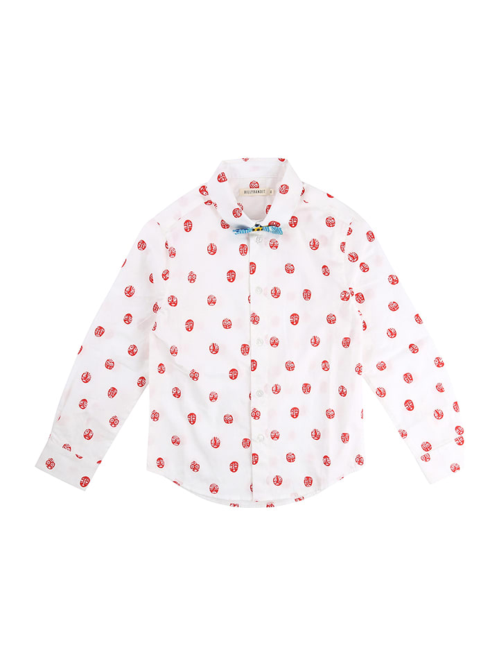 BILLYBANDIT Blouse wit/rood