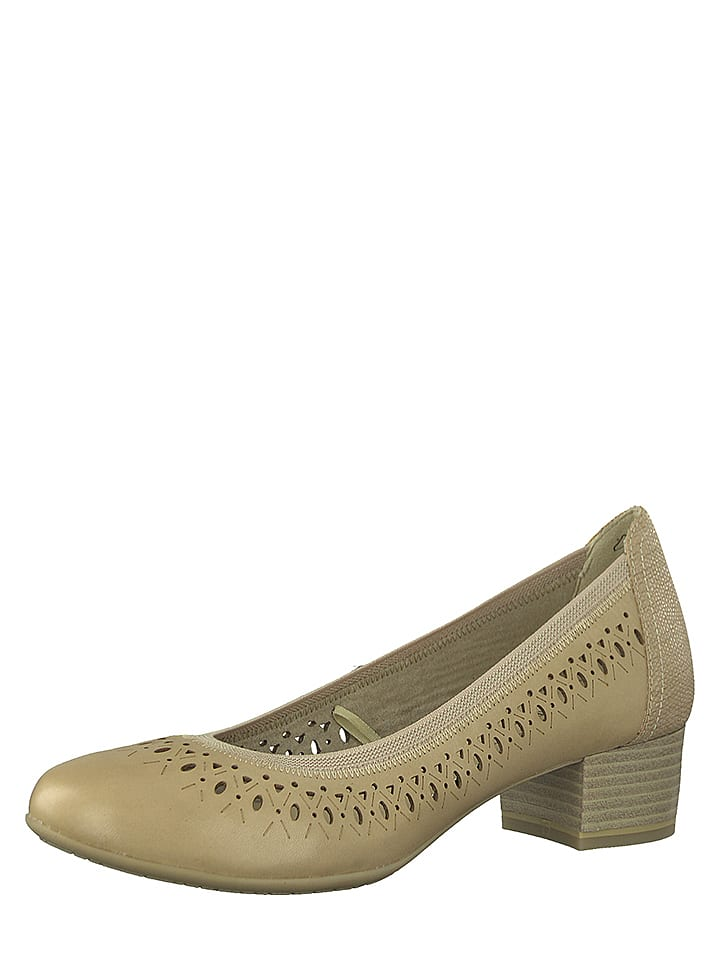 Marco Tozzi Leder-Pumps in Beige