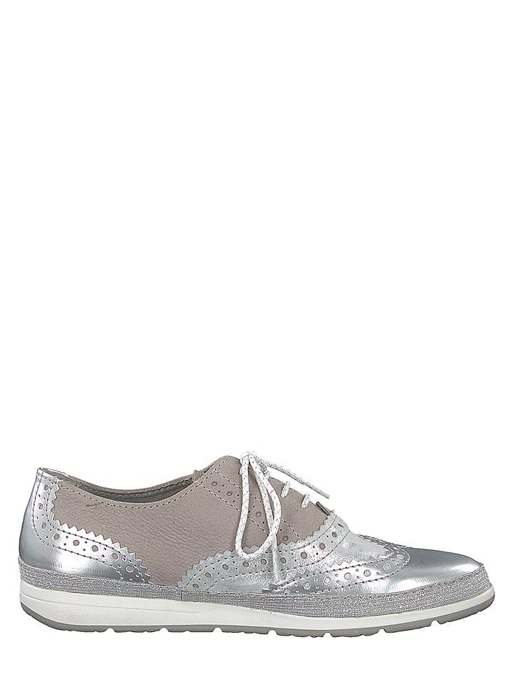 Marco Tozzi - Chaussures à lacets en cuir - argenté rose   Outlet limango e72947260ec2
