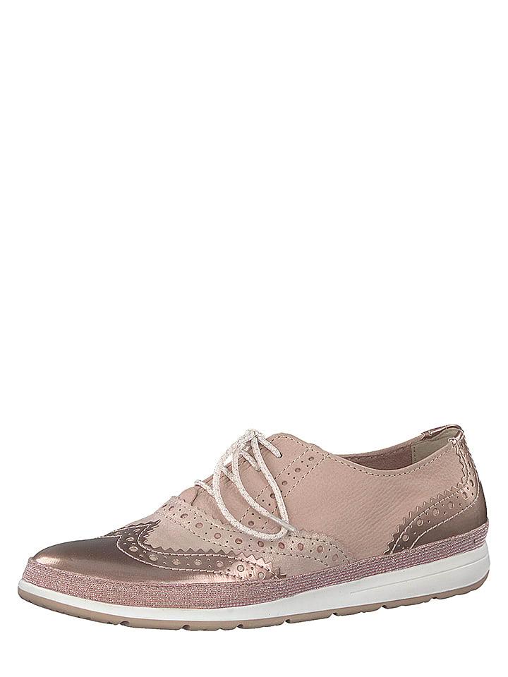 Marco Tozzi - Chaussures à lacets en cuir - rose   Outlet limango cece6e66312e
