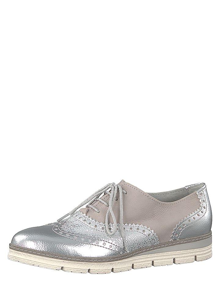 Marco Tozzi - Chaussures à lacets en cuir - argenté rose   Outlet ... e14693580258