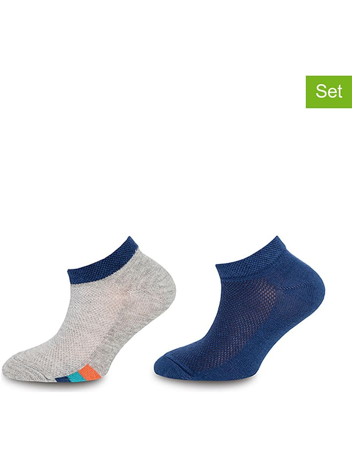 Ewers 2er-Set: Sneaker-Socken ´´Sportiv´´ in Grau - 32% | Größe 27-30 | Kinder socken strumpfhosen