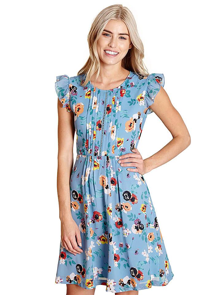 Yumi Sukienka w kolorze błękitnym