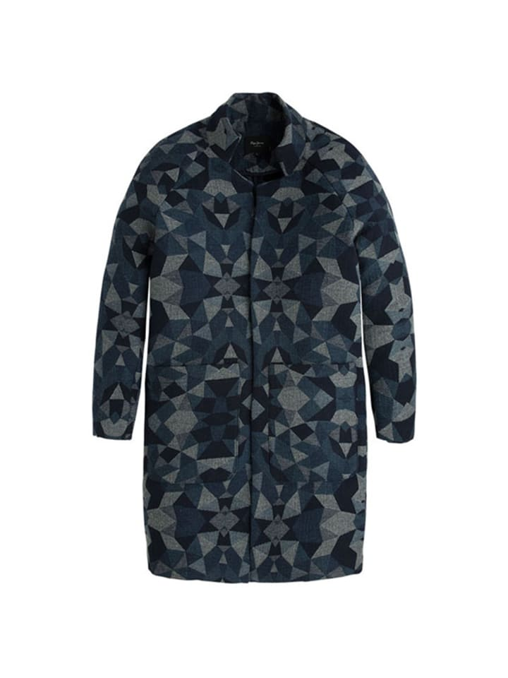 Pepe Jeans Płaszcz w kolorze czarnym ze wzorem