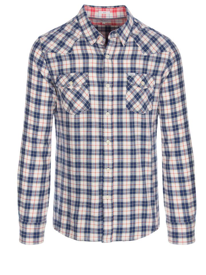 Pepe Jeans Koszula w kolorze kremowym ze wzorem