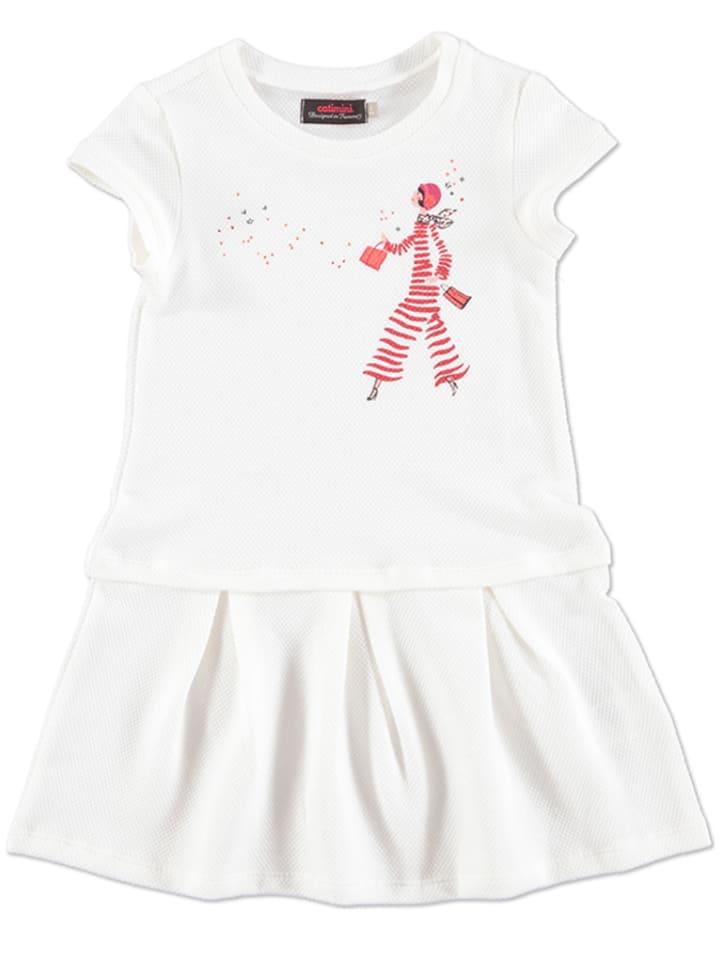 Catimini Sukienka w kolorze białym