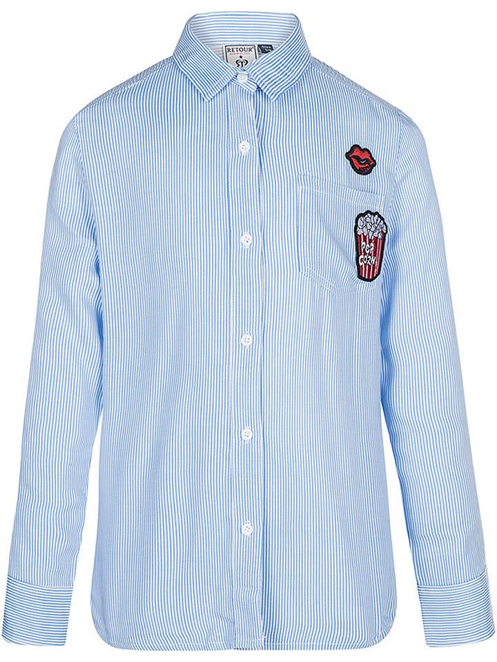 Retour Bluzka w kolorze błękitnym